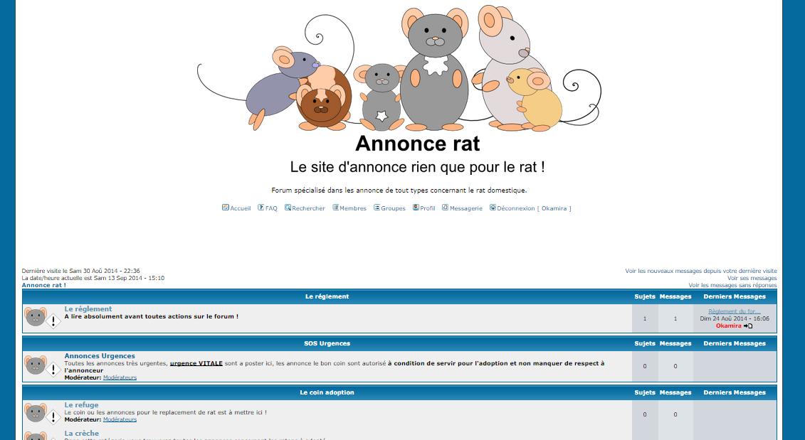 Annonce rat !